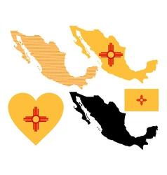 Mexico map vector image