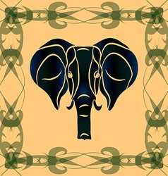 Negative silhouette of an elephant vector image vector image