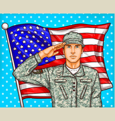 pop art for a memorial day - a vector image