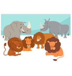 safari animal characters cartoon vector image vector image