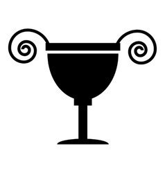 Ancient vase icon simple style vector image