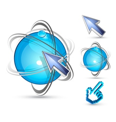 arrows and balls vector image