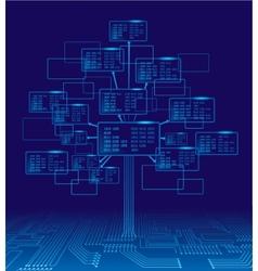 Binary tree vector image vector image