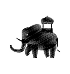 hand drawing indian elephant vector image vector image
