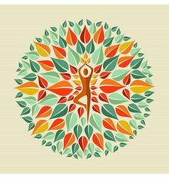 India yoga mandala vector image vector image