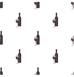 red wine icon in cartoon style isolated on white vector image
