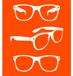 set of sunglasses vector image vector image