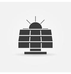 Solar energy icon or logo vector