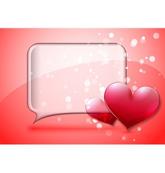 Valentine speech bubble card vector image
