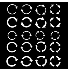 White Arrows vector image vector image
