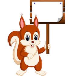 Cartoon funny squirrel vector
