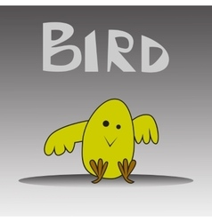 cartoon happy yellow bird vector image vector image