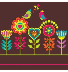 Decorative colorful flower vector image