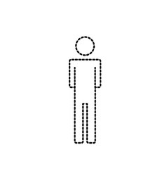 dotted shape man pictogram with body design vector image