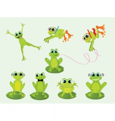 frogs set vector image