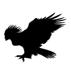 harpy silhouette ancient mythology fantasy vector image