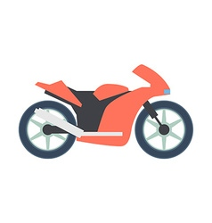 Transport flat Bike icon isolated on white vector image vector image