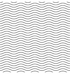 Wavy line black-white seamless pattern vector image vector image