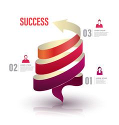 arrow twist up to success number vector image