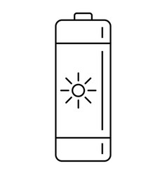 battery icon outline style vector image