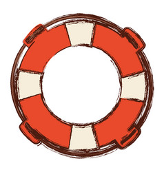Blurred color in flotation hoop with rope vector