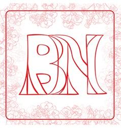 BN monogram vector