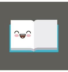 Book character kawaii isolated icon vector