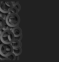 border with paper cut 3d black circles vector image