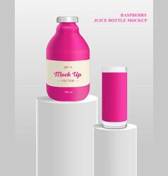 Bottle mock up juice or jam vector