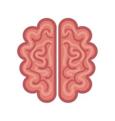 Brain cartoon icon graphic isolated vector