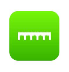 bridge icon digital green vector image