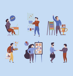 business people office managers workers meeting vector image