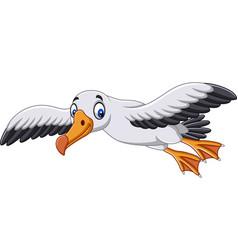 cartoon albatross flying vector image