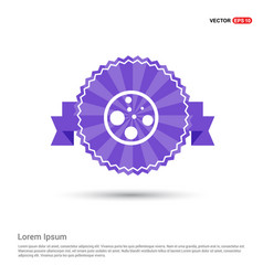 Cell icon - purple ribbon banner vector