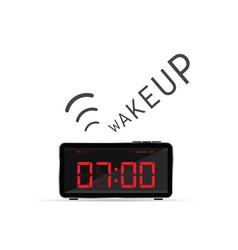 Clock with wake up alarm vector