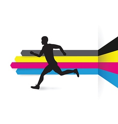 cmyk side runner vector image