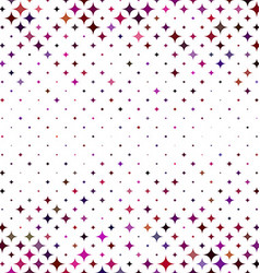 Colorful abstract star pattern background vector image