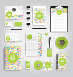 Corporate identity print template vector