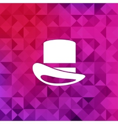 cylinder hat iconTriangle background vector image