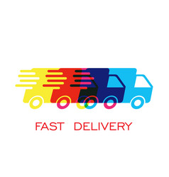 Delivery truck logo fast delivery service vector