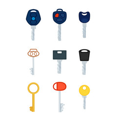 different types keys collection pictures vector image
