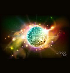 disco ball disco ball on open space background vector image