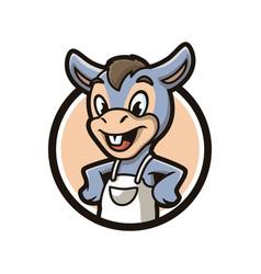 Donkey mascot design vector