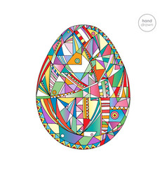 easter egg hand drawn abstract vector image