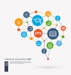 Education elearning graduation and school vector