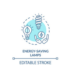 Energy saving lamp turquoise concept icon vector
