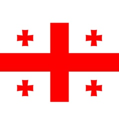 Flag of Georgia vector