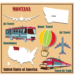 Flat map of Montana vector