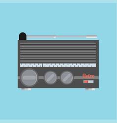 Flat radio icon vector