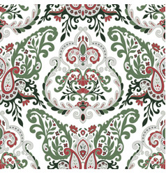 floral leaves and spring branches seamless pattern vector image